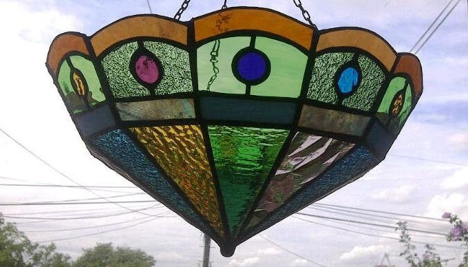 glass stained shades lamp pendant hanging