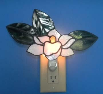 Custom Made Magnolia Bloom Night Light