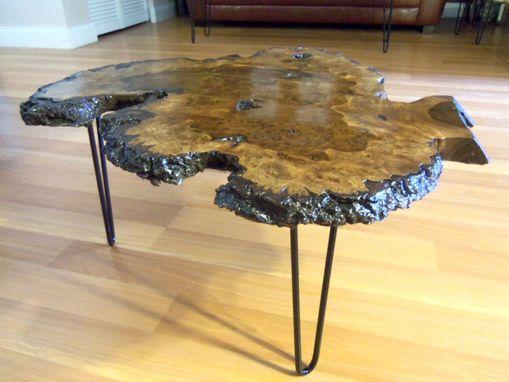 Live Edge Black Walnut Burl Coffee Table
