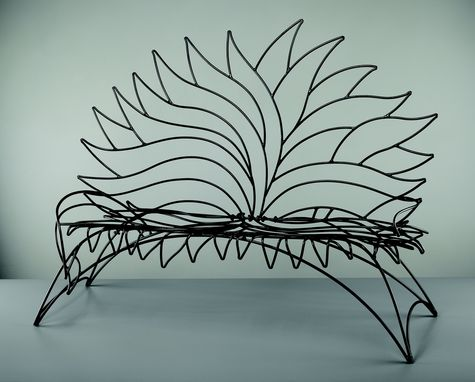 Custom Made Steel Garden Bench