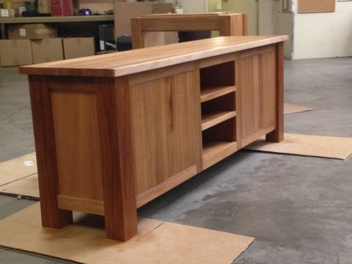 Custom Made Mahogany Media Cabinet