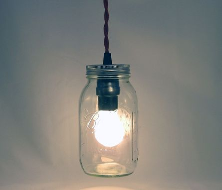 Custom Made Ball Mason Jar Hanging Pendant Light - Bmqr-Rct