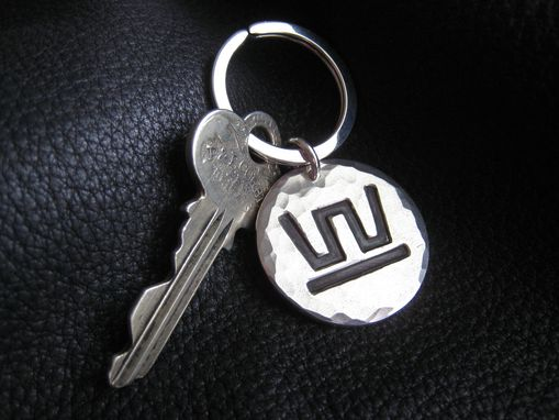 Custom Made Sterling Silver Key Chain Key Ring Fob With Ranch Brand Or Logo