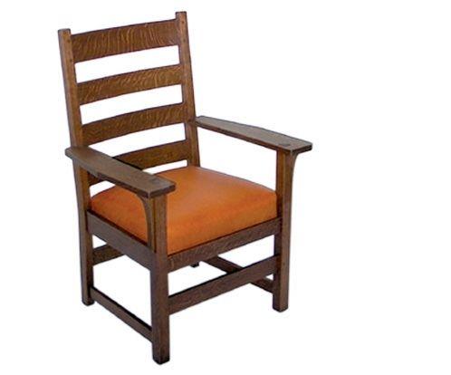 Terrific Hand Made Ljg Stickley Arm Chair By Rb Woodworking Creativecarmelina Interior Chair Design Creativecarmelinacom