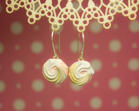 Custom Made Pastel Pink Rose Earrings // Drop Earrings { Meringue Collection }
