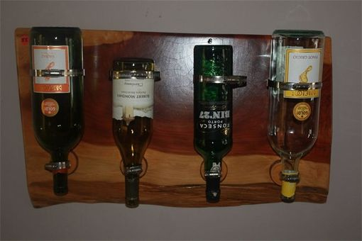 Custom Made 4 Bottle Wine Rack