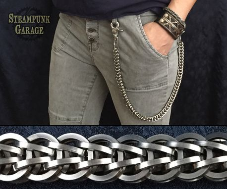 Custom Made Wallet Chain - Black Or Silver Fullpersian Foxtail - Stainless Steel Square Wire