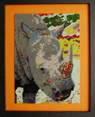 Custom Made Rhino Animal Portrait