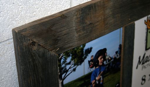 Custom Made Barn Wood Picture Frame With Four 8x10 Panes