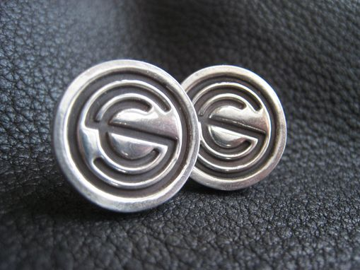 Custom Made Custom Sterling Silver Cufflinks With Corporate Business Or Wedding Logo