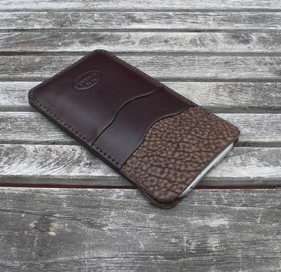 Custom Made Garny - №24 - Iphone 6 Leather Case - Dark Brown Bison And Cow Hide