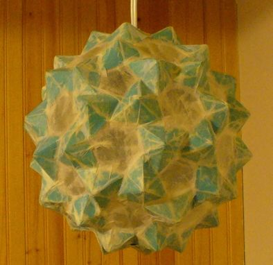 Custom Made Solid Blue Ceiling Lantern