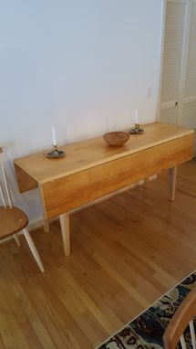 Custom Made Pine Drop Leaf Table