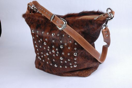 Custom Made Hair-On Leather Tote Bag