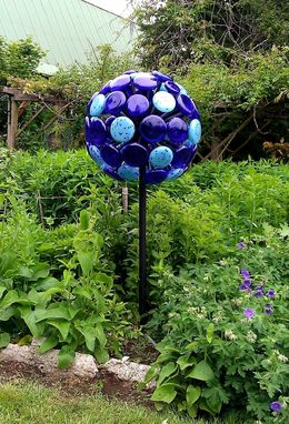 Custom Made Blue Allium Sculpture