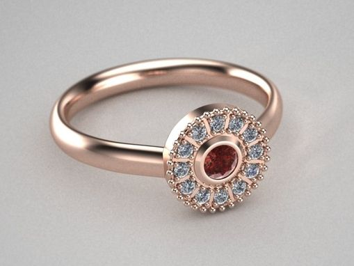 Custom Made Antique Style Engagement Ring