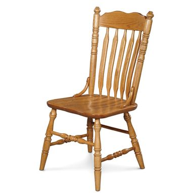 Custom Made Cattail Bent Side Chair In Solid Oak