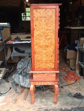 Custom Made Amboyna Burl Jewelry Armoire