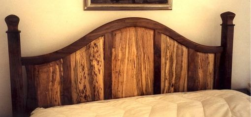 Custom Made Walnut & Spalted Pecan Four Poster