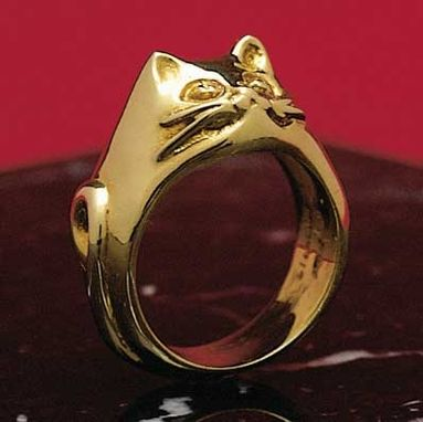 Custom Made Feline Queen Cat Ring