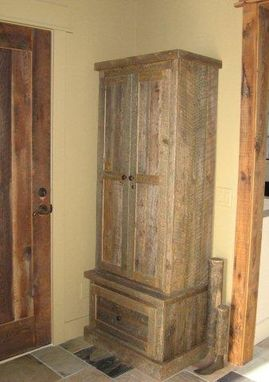 Custom Made Reclaimed Lumber Gun Cabinet
