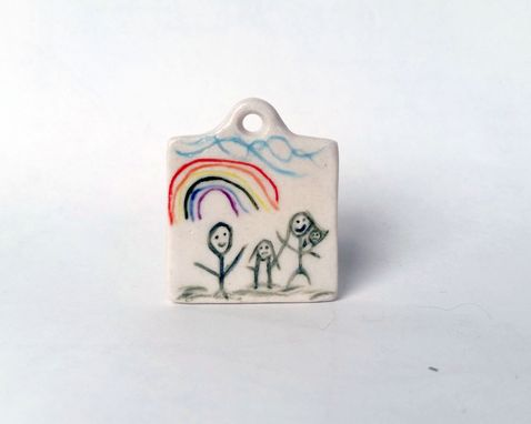 Custom Made Turn Your Drawing Into A Pendant