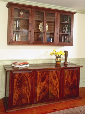 Custom Made Clairo Walnut Credenza And Wall Unit