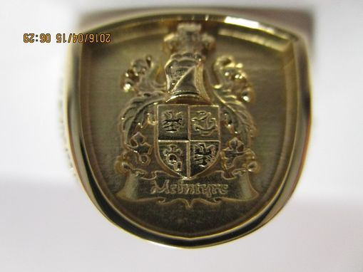 Custom Made Family Crest, Signet With Anniversary Date