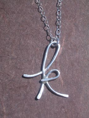 Custom Made Letter Pendant In Sterling Silver