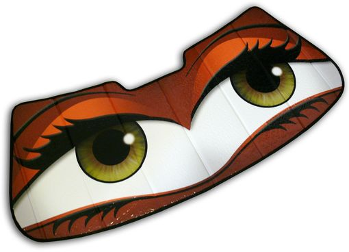 Custom Made Spice Orange Mini Cooper Eyes Sunshade