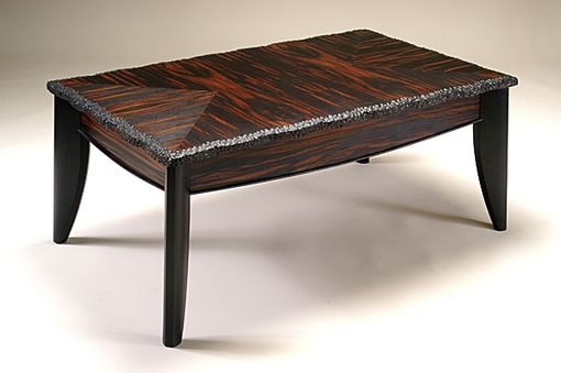 Custom Made Macassar Ebony Coffee Table