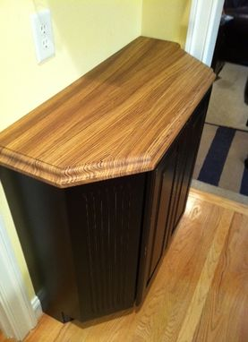 Custom Made Zebrano Kitchen Island