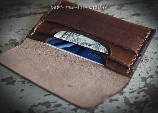Custom Made Custom Horween Leather Card Wallet