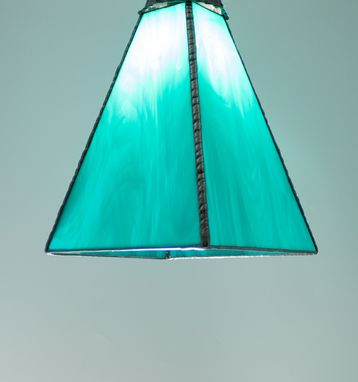 Custom Made Custom Stained Glass Pendant Lights - Wispy Art Glass - Choice Of Colors
