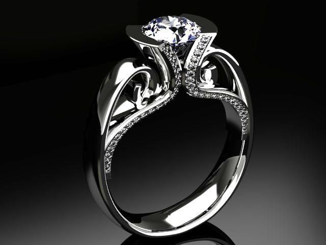 custom made vintage diamond engagement ring - Vintage Diamond Wedding Rings