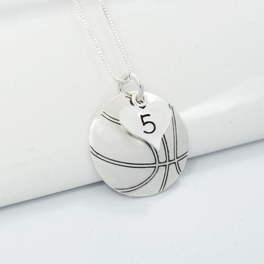 Custom Made Basketball Mom Necklace With Number