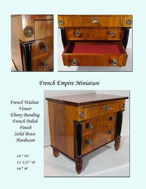 Custom Made Collector's Cabinet - Miniature French Empire Style