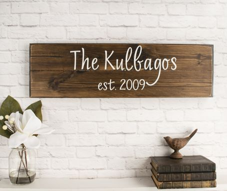 Custom Made Last Name Sign - Family Name Established Sign - Personalized Signs For Home