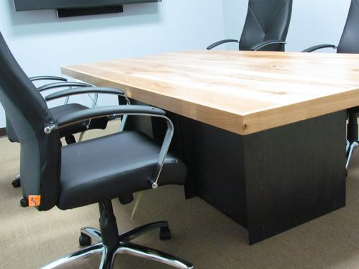 Custom Made Wite Oak Conference Table