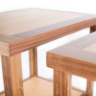 Custom Made Wood End Table