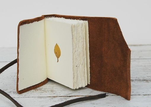 Custom Made Handmade Leather Bound Pocket Journal Diary