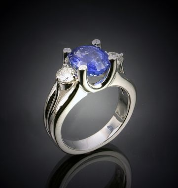 Custom Made Sapphire And Diamond Rings