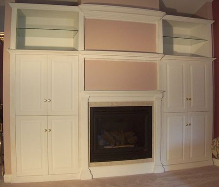 Custom Made Tv Cabinet, Mantle And Storage