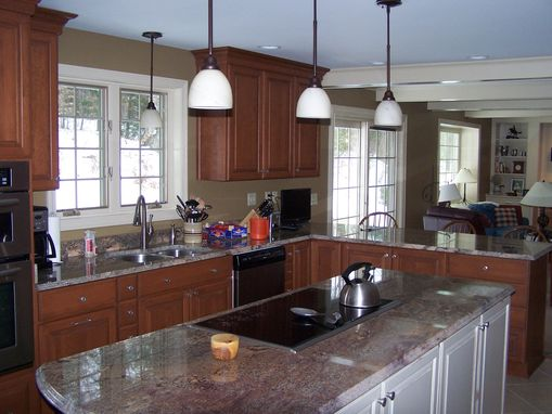 Custom Made Kitchen, Living, Dining Room Remodel