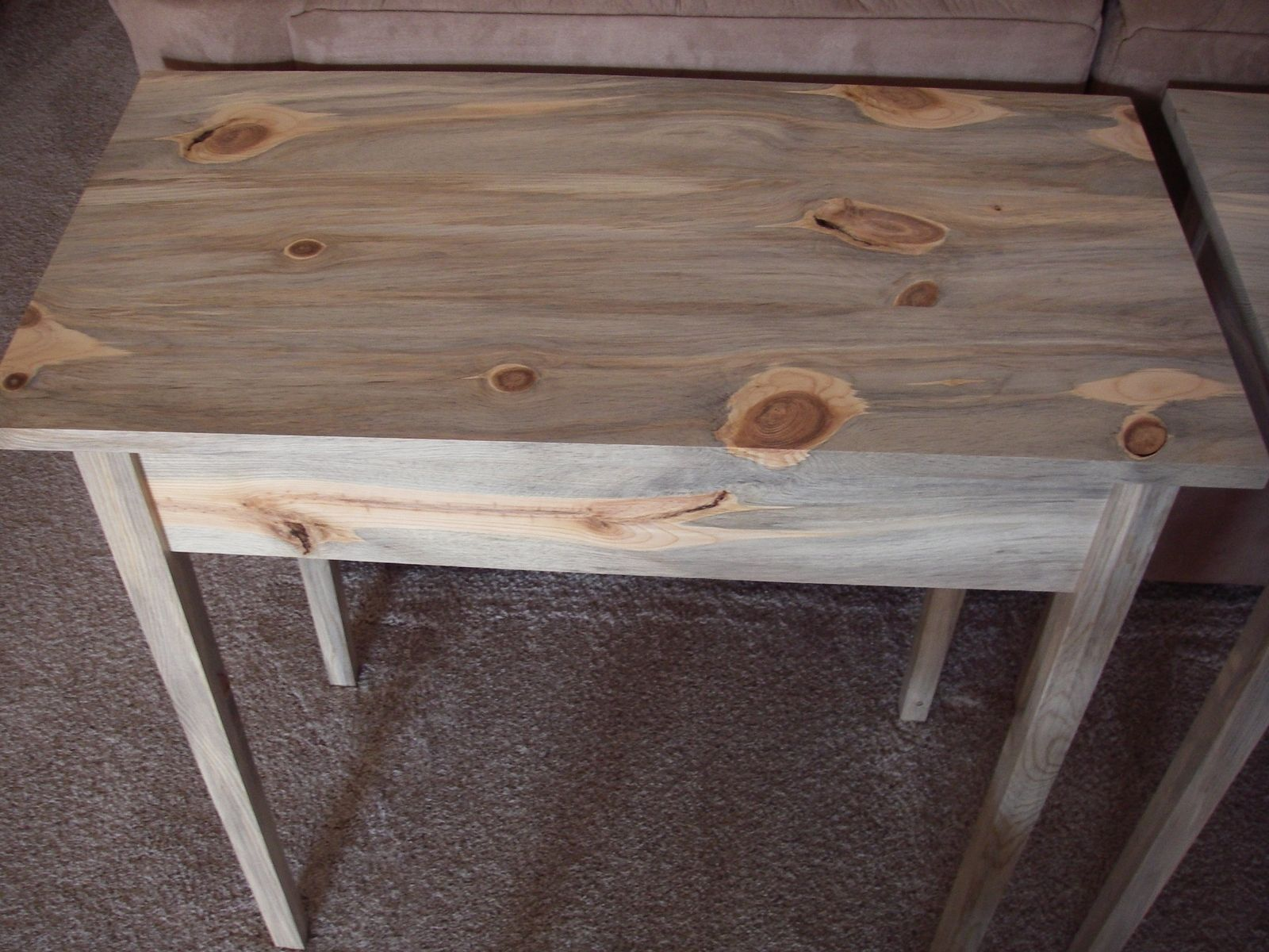 Custom Colorado Blue Stained Pine Table By Fsd Custom