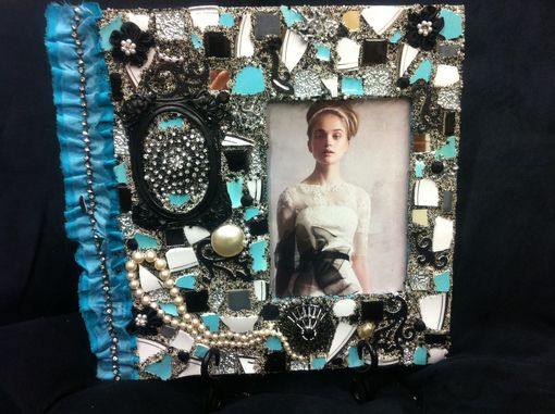 Custom Made Tiffany Theme Mosaic Wedding Frame For 5x7 Photo