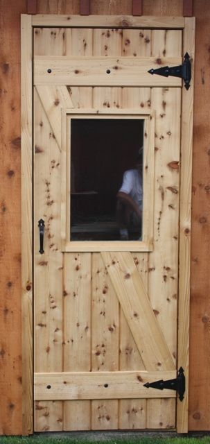 Hand Crafted Custom Red Cedar Door By Majestic Rustic
