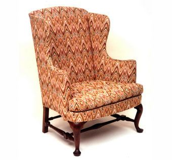 Custom Made Queen Anne Wing Chair