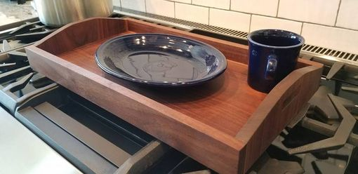 Custom Made Breakfast Caddy / Tray In Black Walnut
