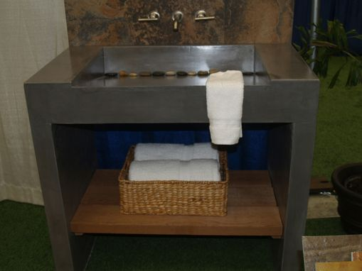 Custom Made Concrete Vanity And Sink
